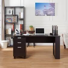 Espresso Office Desk Furniture Of America Tuston Espresso Office Desk With Built In