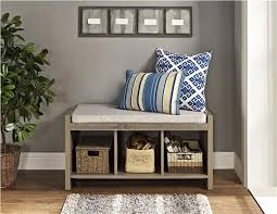 ameriwood furniture penelope entryway storage bench with cushion