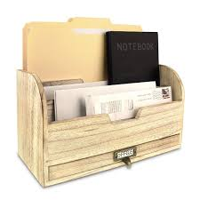 File Desk Organizer Ikee Design Wooden Desktop Organizer File Storage