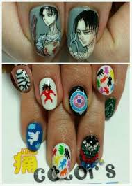 color sすみな西山 on characters anime nails and anime