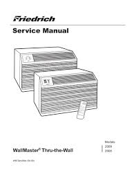 friedrich air conditioner service manual the best air 2017