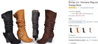 womens calf boots sale knee high slouch wedge heel boot with buckle regular and