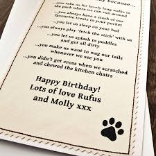 birthday card from the dog by jenny arnott cards u0026 gifts