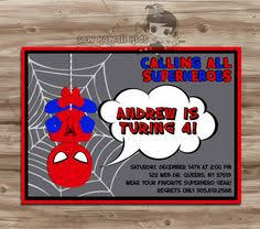 spiderman invitation for little superheroes boy you will receive