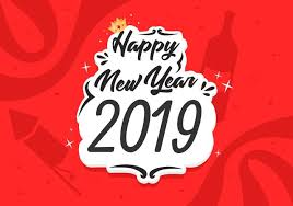 happy new year 2019 free vector illustration free vector