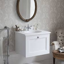 Mirror Old Fashioned Medicine Cabinet Burlington Bathroom Suite Burlington Matt White 650mm Wall Hung Vanity Unit With Worktop