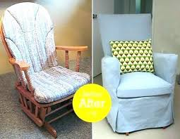 Rocking Chair Covers For Nursery Recover Rocking Chair Cushions Cushion For Glider Rocker Glider
