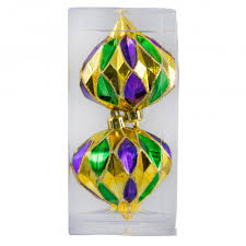 mardi gras ornaments 4 diamond mardi gras ornament purple green gold box of 2