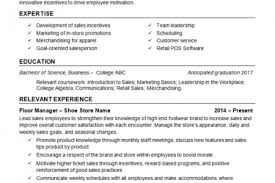 Retail Management Resume Examples by Shoe Store Resume Example Reentrycorps