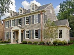 unique house color ideas with brick and white combination listed