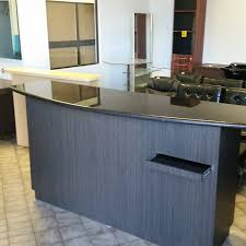 Granite Reception Desk Custom Salon Cabinetry