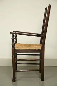 Antique Oak Ladder Back Chairs Set Of Eight English Oak Wavy Ladder Back Chairs With Rush Seats