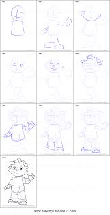 how to draw sid from sid the science kid printable step by step