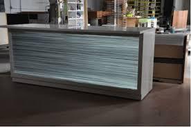 Led Reception Desk Luccon Translucent Concrete Reception Desk With Led Light Panel
