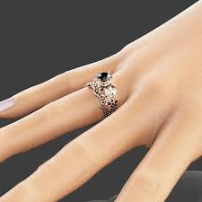 925 sterling silver engagement rings created black gold flower 925 sterling silver