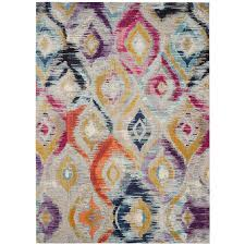 Lilac Area Rug by Shop Safavieh Monaco Dominon Multi Rectangular Indoor Machine Made