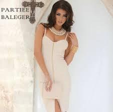 online get cheap white front zipper bandage dress aliexpress com