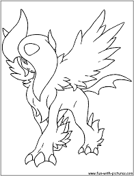 pokemon coloring pages absol 4 arterey info