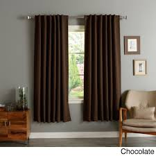 Bed Bath Beyond Blackout Curtains Aurora Home Solid Insulated Thermal Blackout 120 Inch Curtain