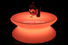 coffee table led plastic modern design glass top new bar centere