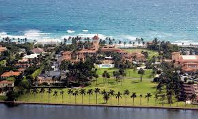 is trump at mar a lago trump s mar a lago could be underwater for 210 days a year