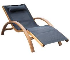 Patio Recliner Chair Foldable Reclining Lounge Chair Soft Fabric Wooden Recliner