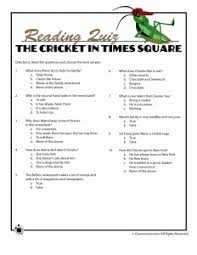 printable worksheets for the cricket in times square children u0027s