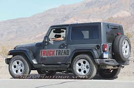 jeep wrangler 2 door hardtop black 2018 jeep wrangler mule spied again