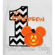Boys Halloween Shirt by Mickey Mouse Birthday Shirt Or Onesie Custom Any Age Boys Or