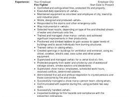 Firefighter Resume Template Sample Fire Resume Resume Example Best 25 Firefighter Resume