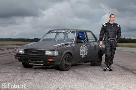 modified toyota corolla 1983 toyota corolla ke70 dx 1 8 mile drag racing timeslip 0 60
