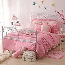 Princess Bedding Full Size Amazon Com Perfect Gift For Girls Polka Dot Princess Pink Polka