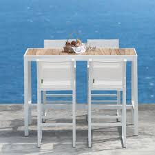 Patio Bar Height Dining Table Set Contemporary High Bar Table Couture Outdoor