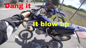motocross bike accessories dirt bike blows up in 6th gear pinned youtube