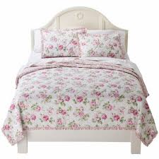 Shabby Chic Garden by Simply Shabby Chic Pretty Pink Garden Rose Twin Bed Floral Quilt