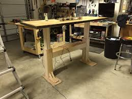 electric height adjustable desk desks houzz and woods