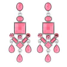 chandeliers earrings chandeliers pink crystal chandelier earrings pink crystal