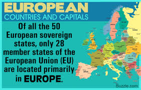 Eu Countries Map An A To Z List Of European Countries And Their Capitals