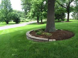 fast landscape blocks around trees u easy tree mulch ring faux