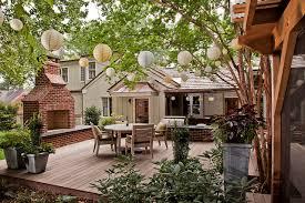 Backyard Wood Deck Wood Decks And Patios Houzz
