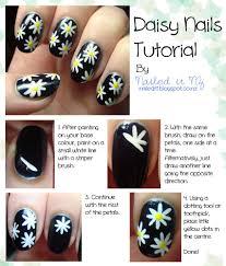 tutorial nail art one direction daisy nails tutorial