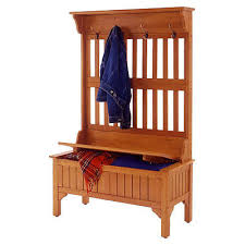 hall tree coat rack storage bench entryway seat furniture foyer