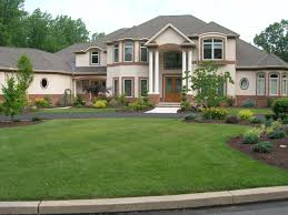stylish front yard driveway ideas landscaping with circular and