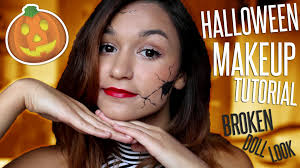 Doll Halloween Makeup Ideas by Easy Broken Doll Halloween Makeup Tutorial Youtube