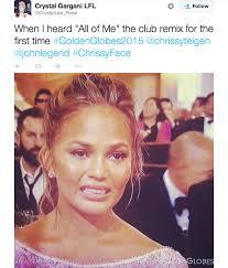 John Legend Meme - the best memes of chrissy teigen s golden globes cry face mtv uk