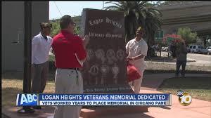 Chicano Park Murals Restoration by New Logan Heights Veterans Memorial Dedicated In Chicano Park