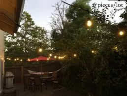 Patio Lighting Strings 6 Set Lot 48ft Garden String Lights With Black Wire Waterproof