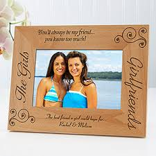 personalized best friends picture frames girlfriends 4 x 6
