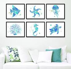 Sea Life Home Decor Nautical Home Decor Coastal Wall Art Beach Art Print Sea