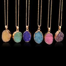 natural gemstone necklace images Wholesale natural stone crystal quartz mineral healing point jpg